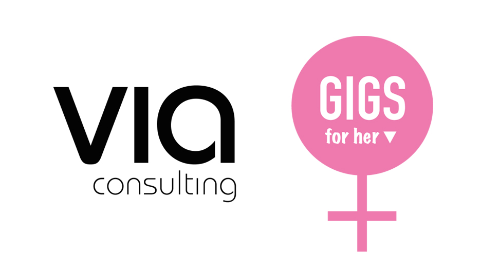 logo Via Consulting och Gigs for her